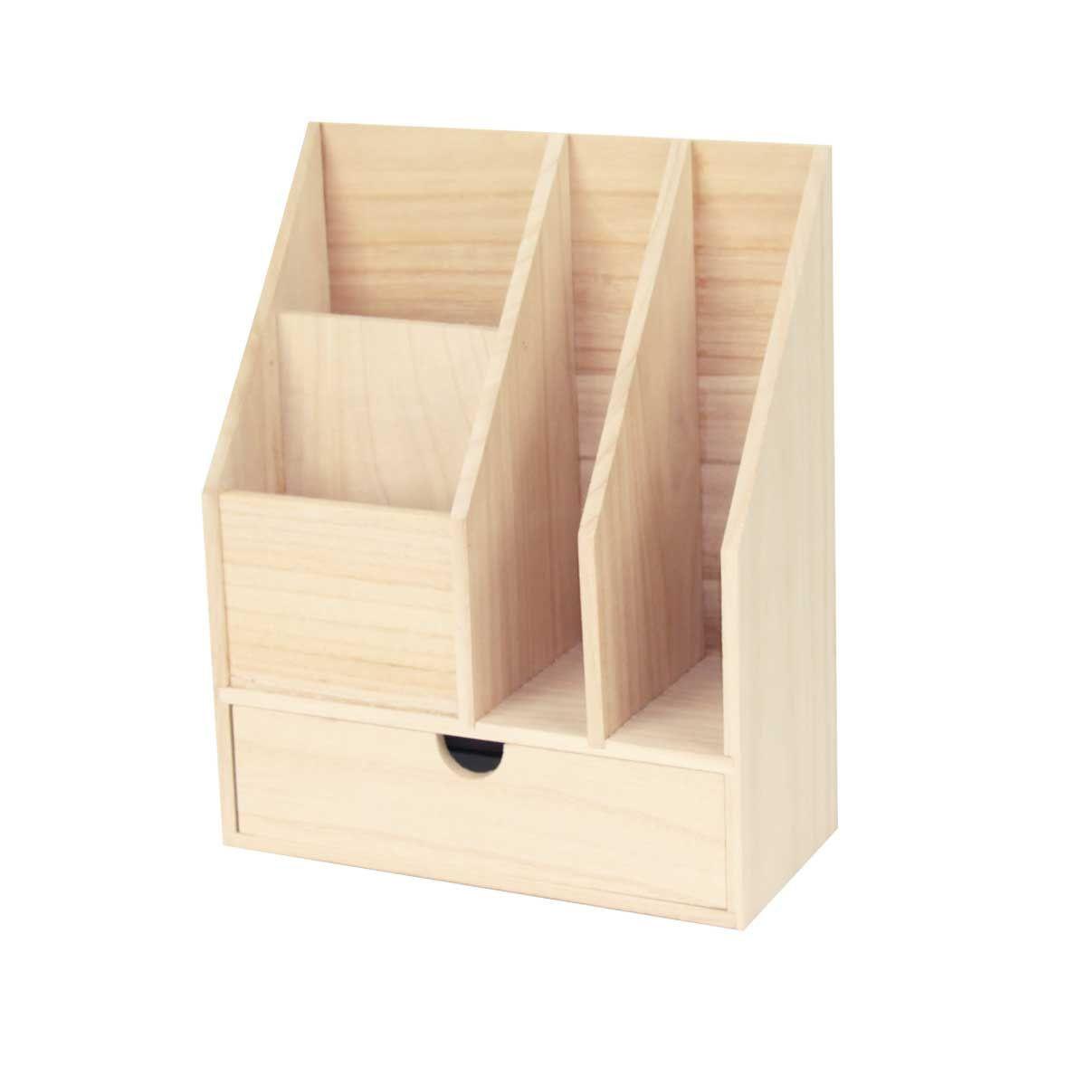 range courrier en bois clair. Black Bedroom Furniture Sets. Home Design Ideas