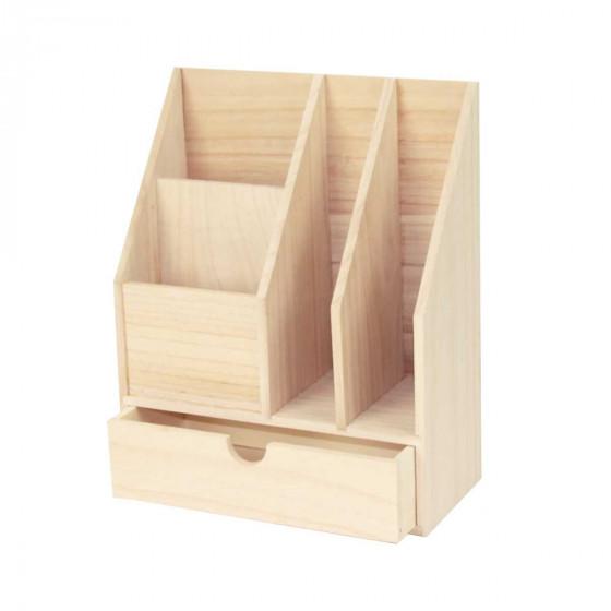 Range courrier en bois