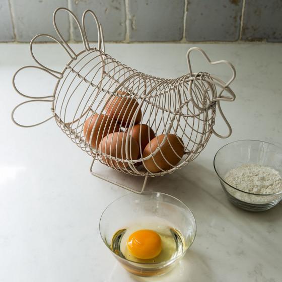 Panier à oeufs en forme de poule