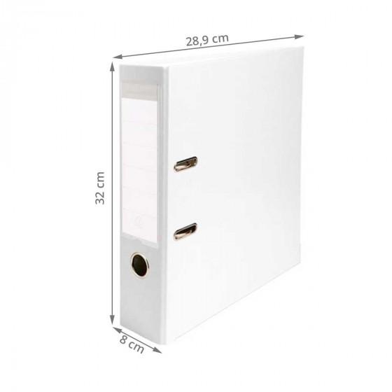 Classeur blanc 8 cm d'épaisseur
