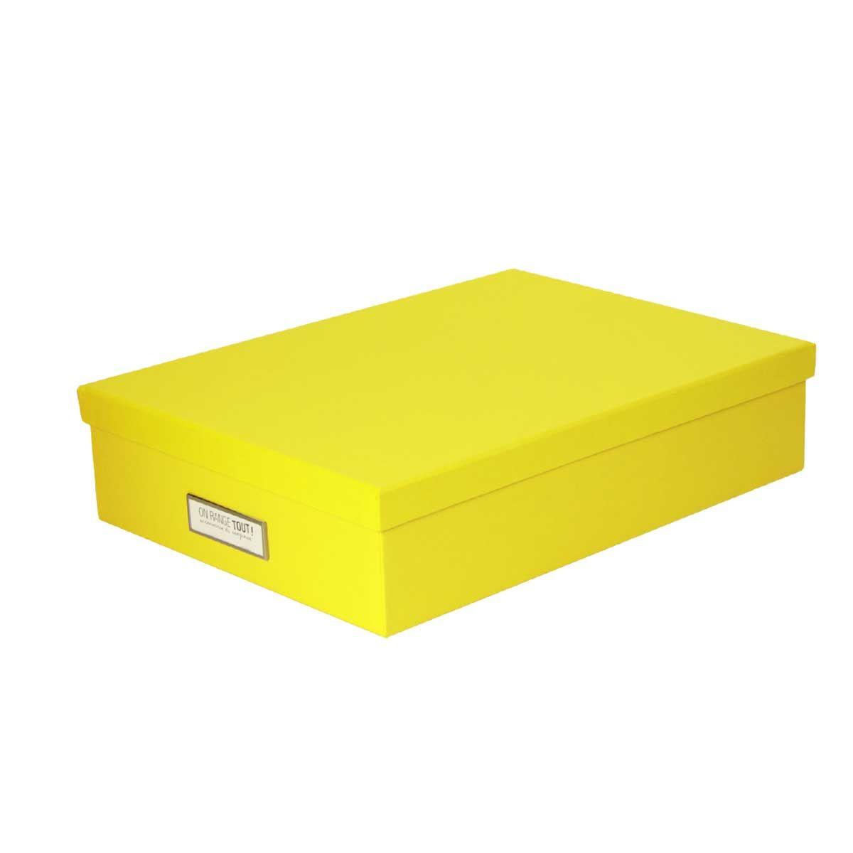 bo te de rangement a4 carton jaune. Black Bedroom Furniture Sets. Home Design Ideas