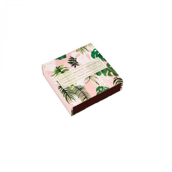 Boîte grandes allumettes motif tropical