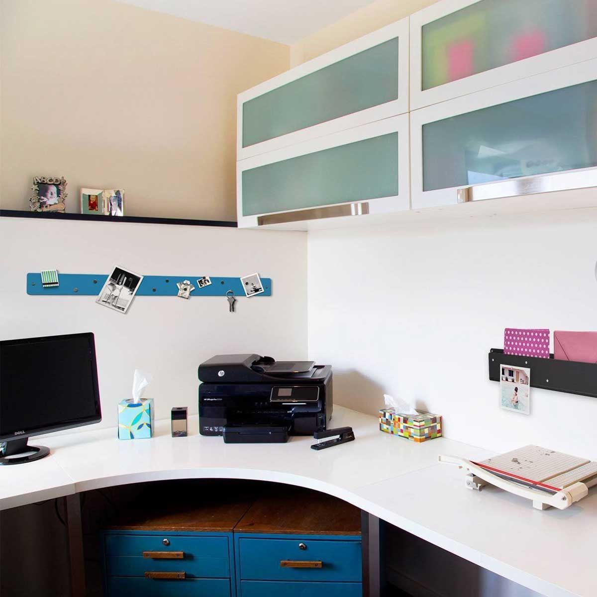 barre magn tique murale bleue affichage. Black Bedroom Furniture Sets. Home Design Ideas