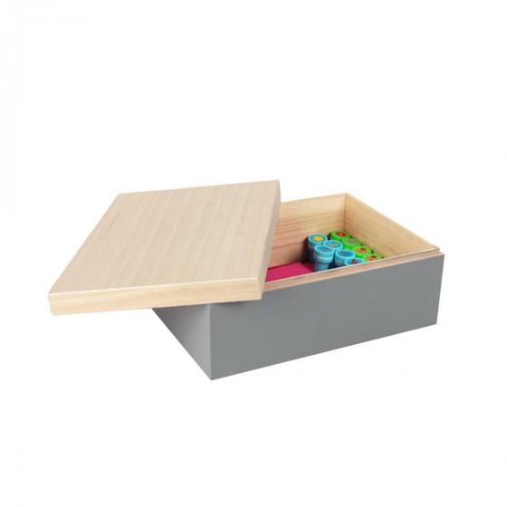 Boîte en bois avec couvercle (M)