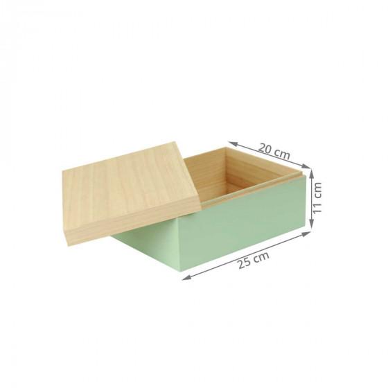 Boîte verte en bois (S)