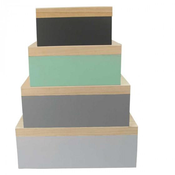 Boîte en bois avec couvercle taille XS