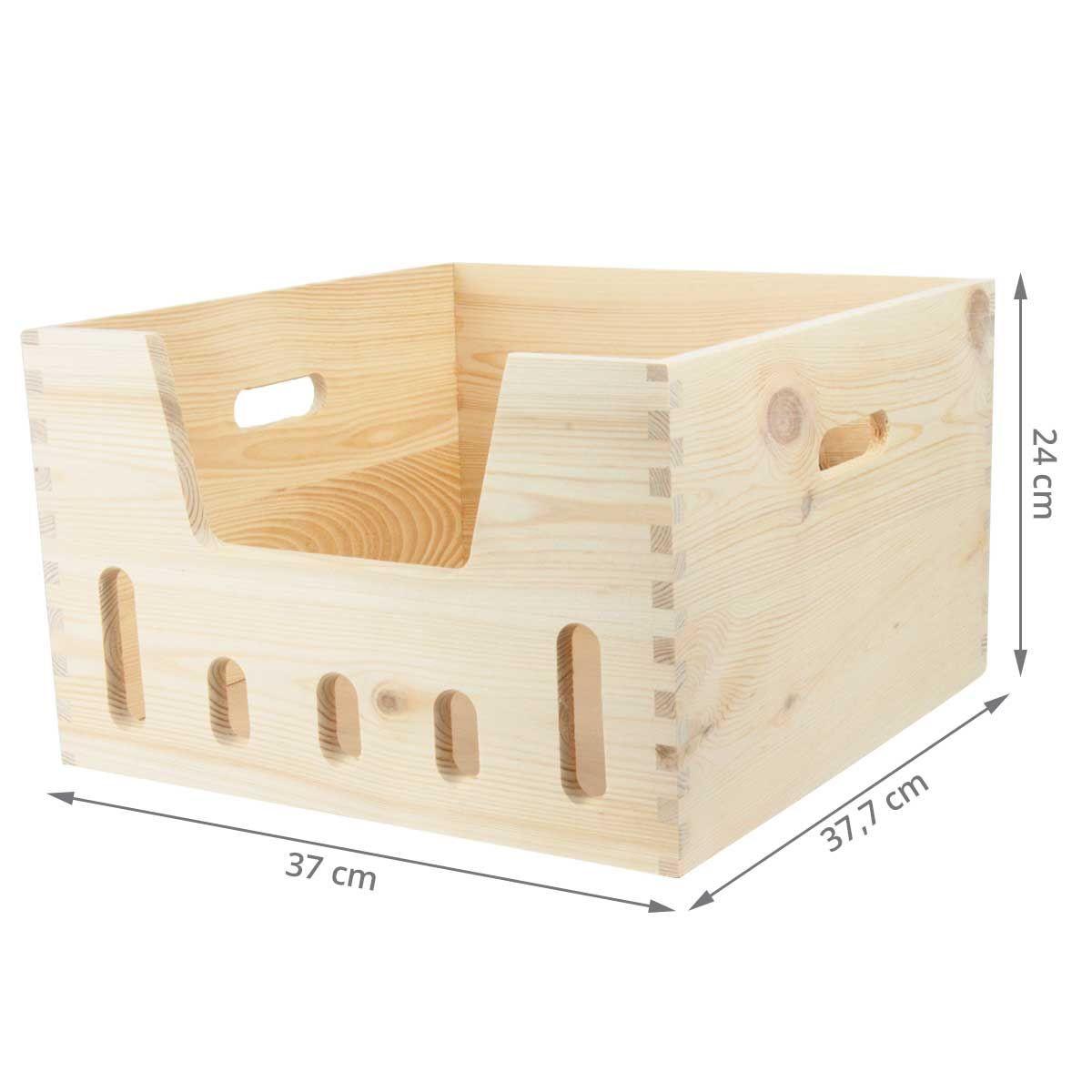 caisse de rangement empilable en pin brut. Black Bedroom Furniture Sets. Home Design Ideas