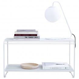 Banc d'entrée design en métal blanc