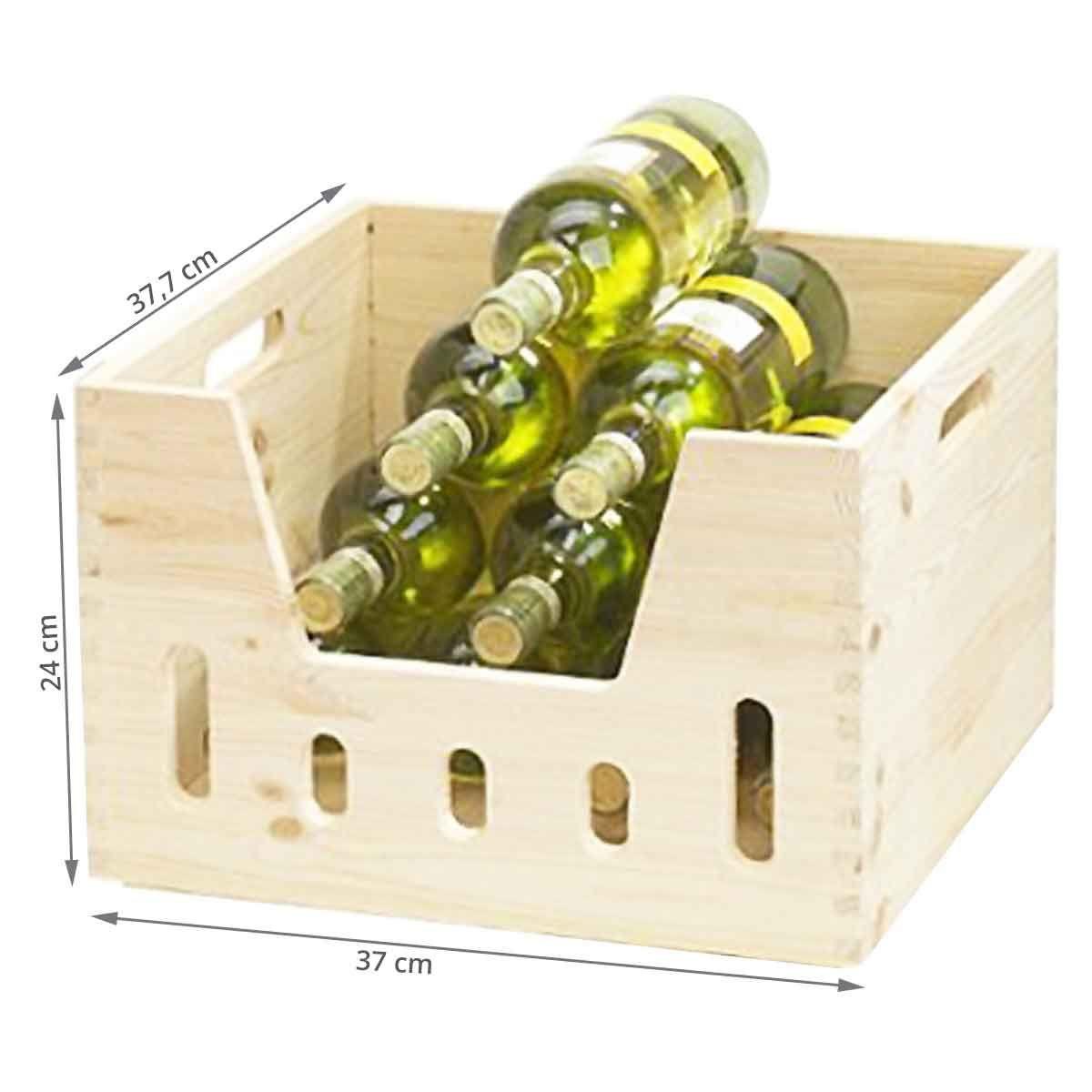 caisse empilable en bois rangement bouteilles. Black Bedroom Furniture Sets. Home Design Ideas