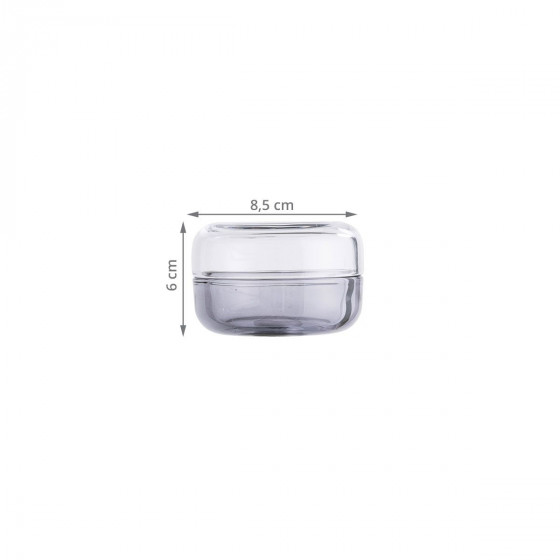 Boîte ronde en verre