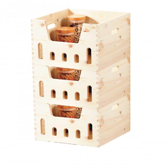 Caisse empilable en bois