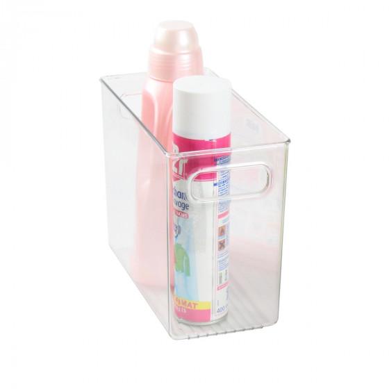 Organisateur rectangulaire M de placard en plastique transparent