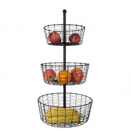 Panier à fruits à 3 étages
