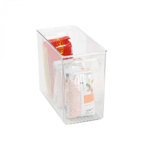 Organisateur rectangulaire M de réfrigérateur ou placard en plastique transparent