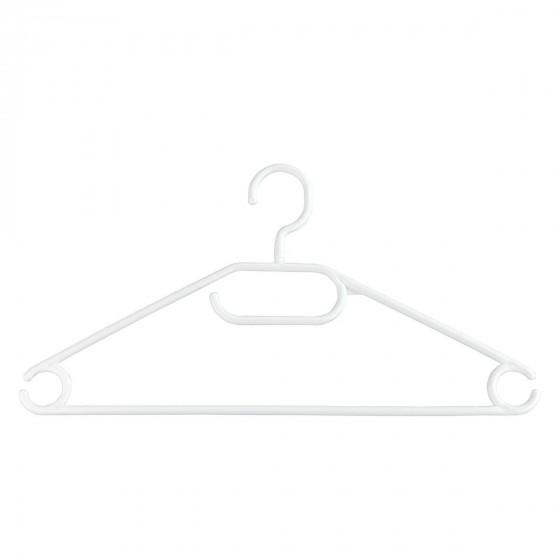 10 cintres en plastique blanc