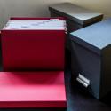 Boîte de rangement à dossiers suspendus gris flanelle