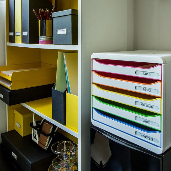 Rangement de bureau 5 tiroirs