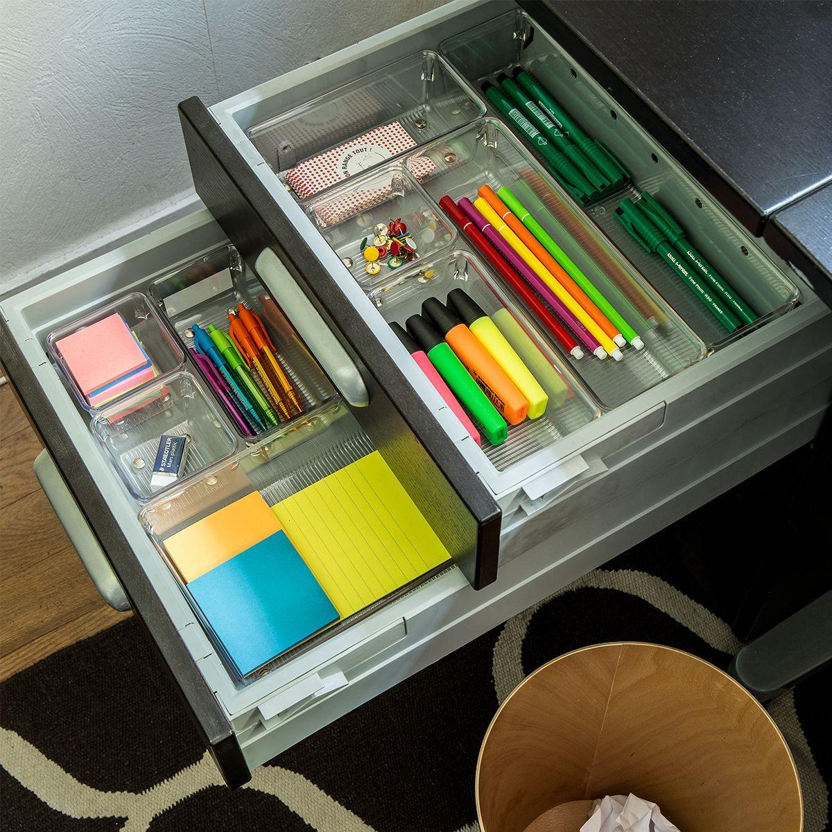 organisateur troit pour tiroir rangement bureau. Black Bedroom Furniture Sets. Home Design Ideas