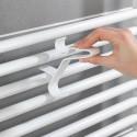 3 patères blanches pour radiateur mural