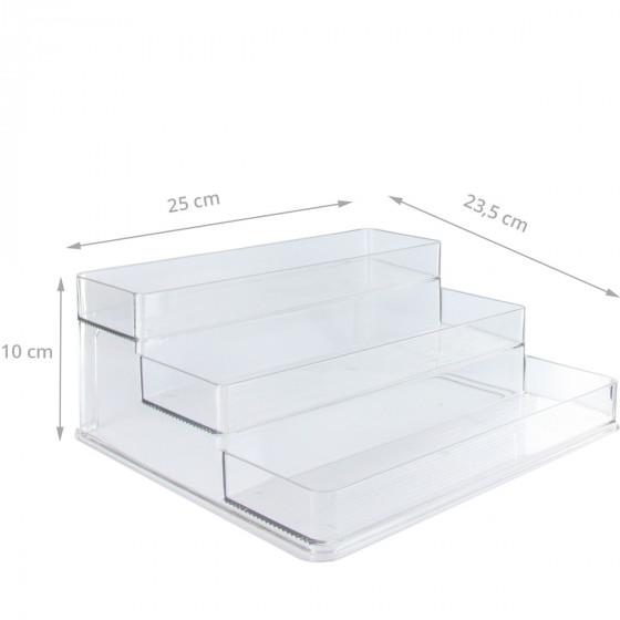 Etagère à épices en plastique transparent pour placard.Taille L