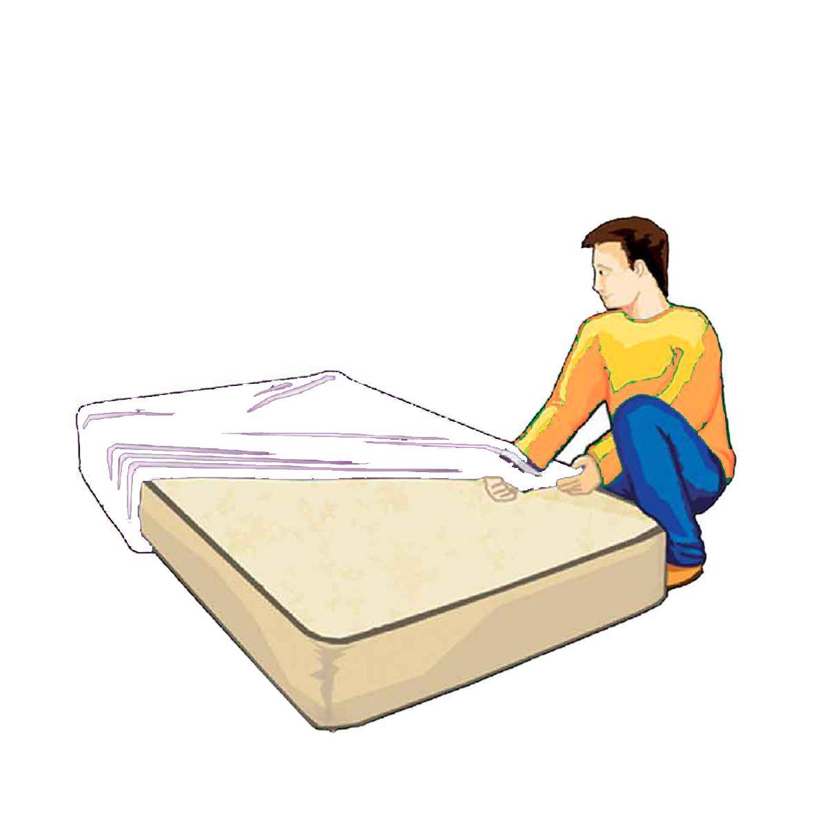 housse de protection pour matelas 2 places 100 microns. Black Bedroom Furniture Sets. Home Design Ideas