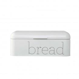 Boîte à pain rétro en métal blanc