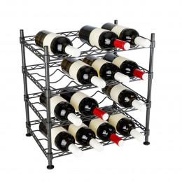 Etagère à vin en métal 16 bouteilles