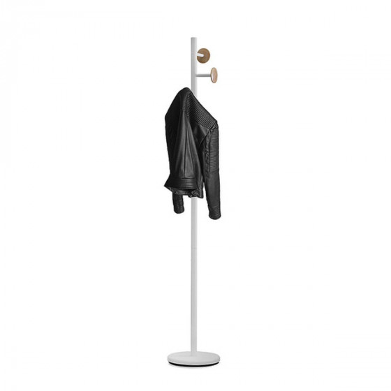Porte manteaux blanc et bois style scandinave