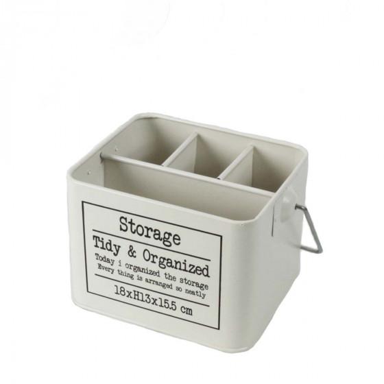Bac en métal avec anse et 4 compartiments