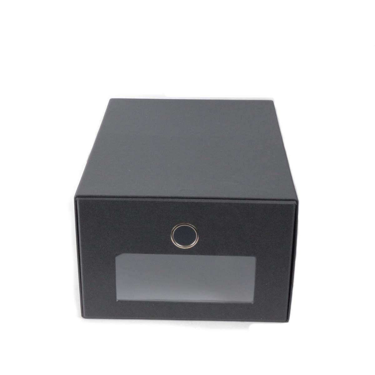 Boîte de rangement chaussures en carton - Ouverture frontale