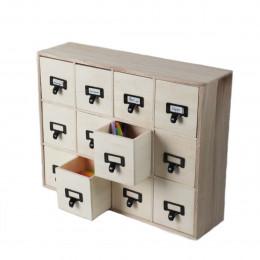 Casier en bois à 12 tiroirs