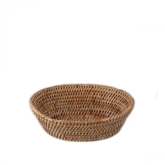 Corbeille à pain ovale en rotin clair