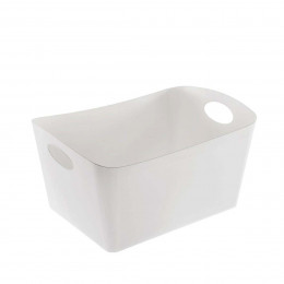 Grand bac de rangement blanc de 15 litres
