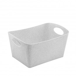 Grand bac de rangement gris en cellulose L