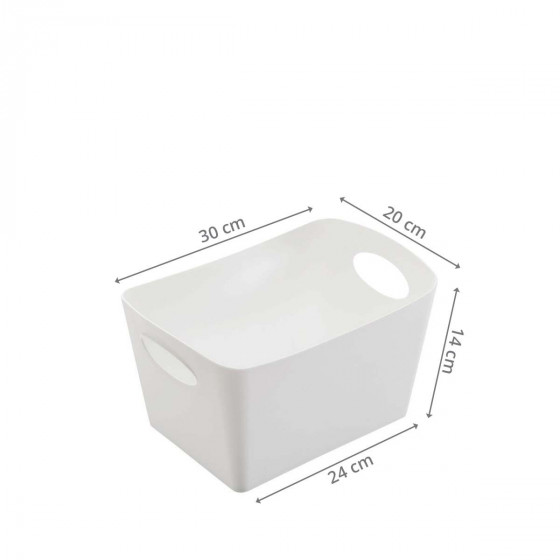 Bac de rangement en plastique blanc