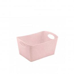 Rangement en matière recyclable rose. M