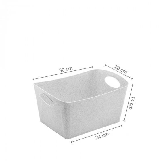 Bac de rangement gris en matière recyclable M