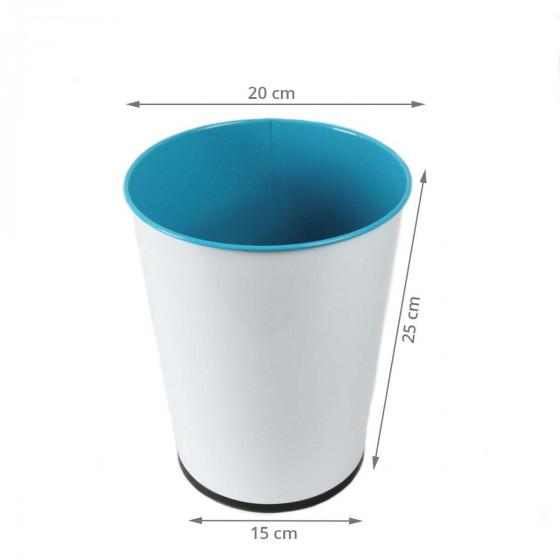 Poubelle 5 litres en métal bleu