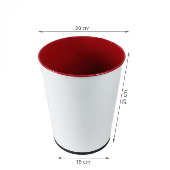 Poubelle 5 litres design rouge