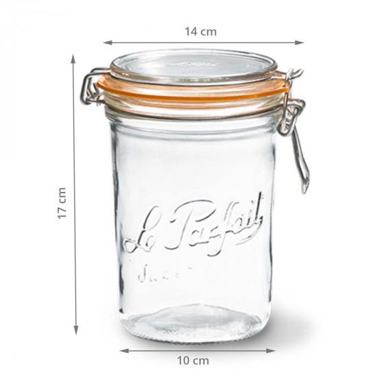 Bocal en verre 1 litre