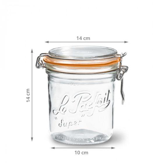 Bocal français en verre 750 ml