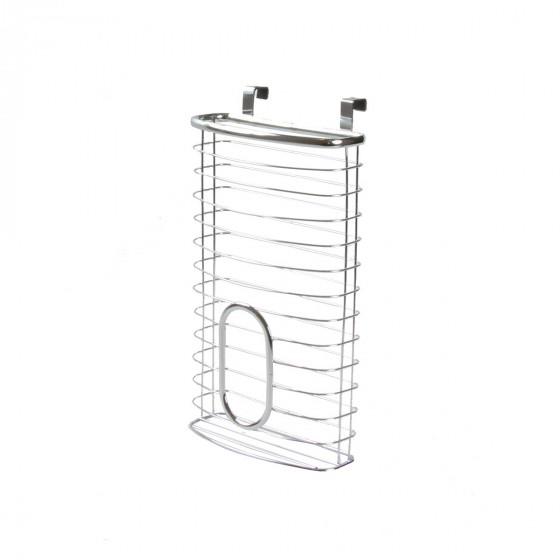Distributeur de sacs plastique à suspendre en métal chromé