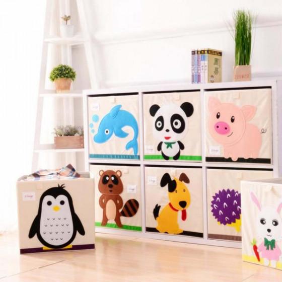 """Cube de rangement pour enfant ludique """"chien"""""""
