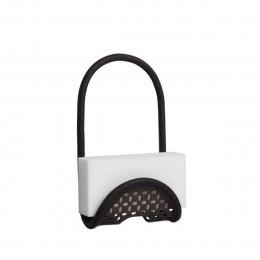 Porte éponge à suspendre noir