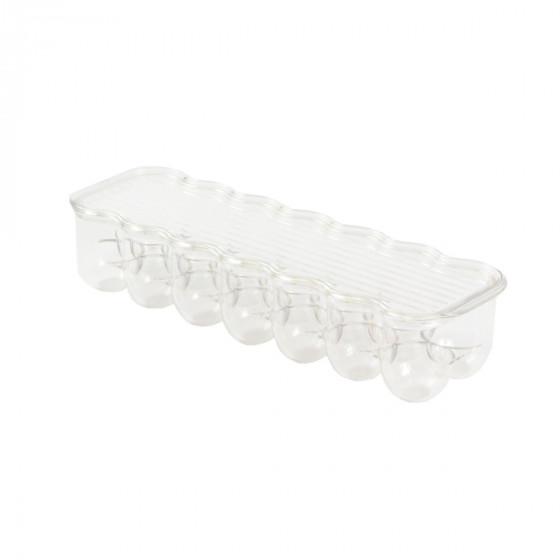 Boîte à 14 oeufs en plastique transparent