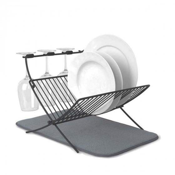 Égouttoir pliable en métal peint noir