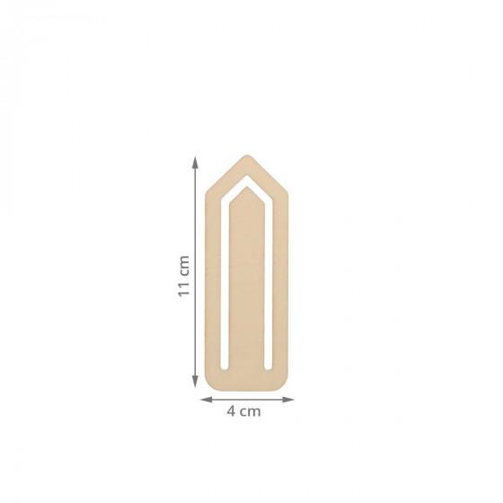12 marque-pages trombone en bois
