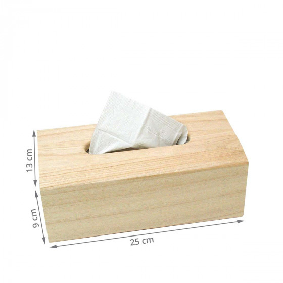 Boîte à mouchoirs en bois