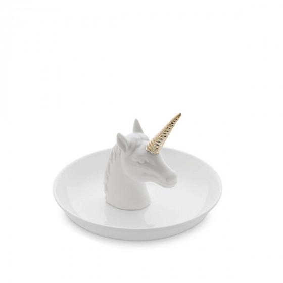 Coupelle à bijoux en porcelaine Licorne