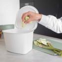 Seau à compost de cuisine blanc